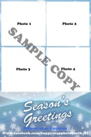 4x6 Snowflakes Template