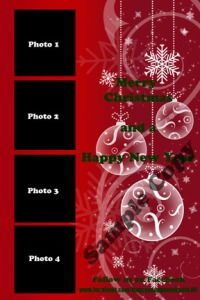 4x6 Red Christmas Template