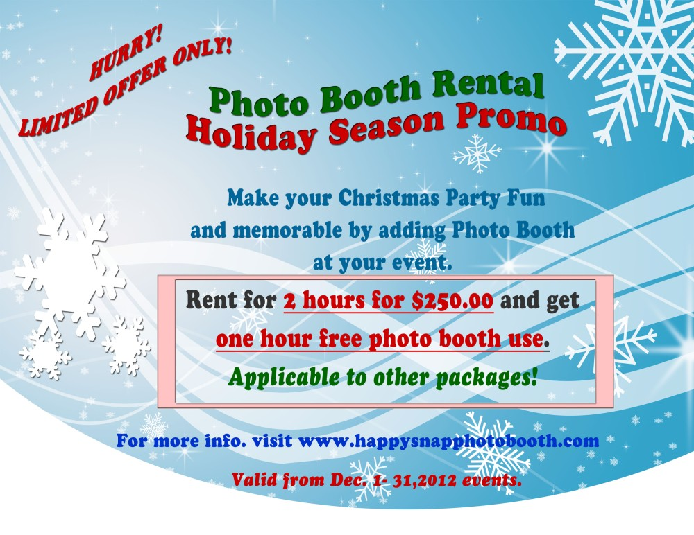 Holiday Season Photo Booth Rental Promo