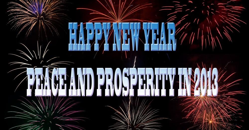 Goodbye 2012! Welcome 2013!